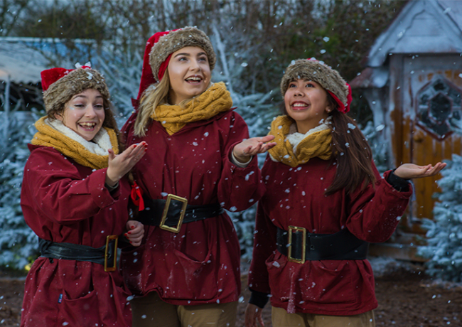 3 avon valley elves in snow